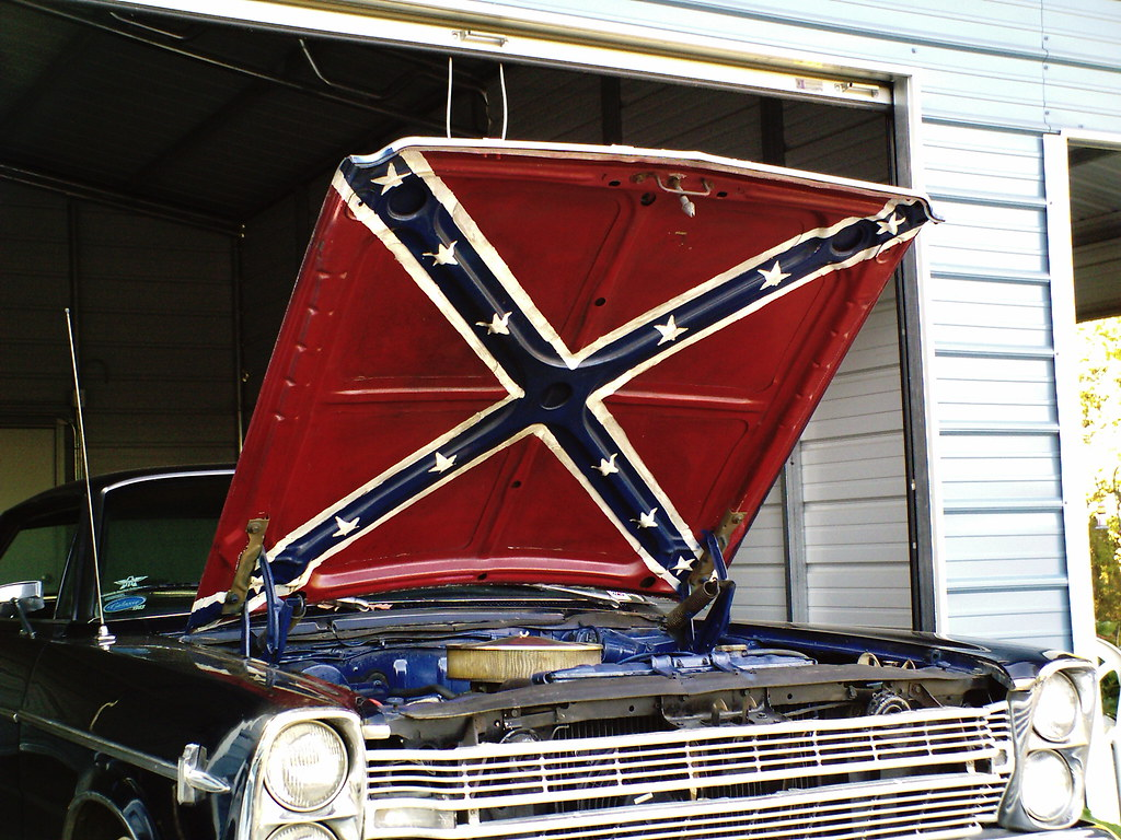 Confederate Flag Heritage Not Hate 1966 Ford Galaxy With
