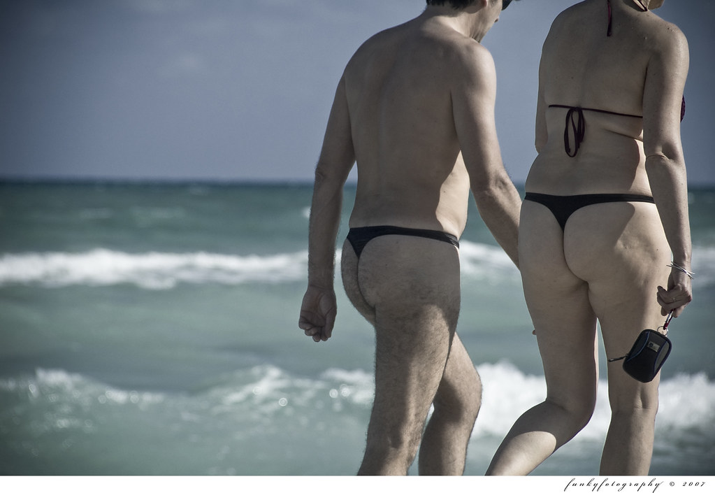 beach Couples wearing thongs