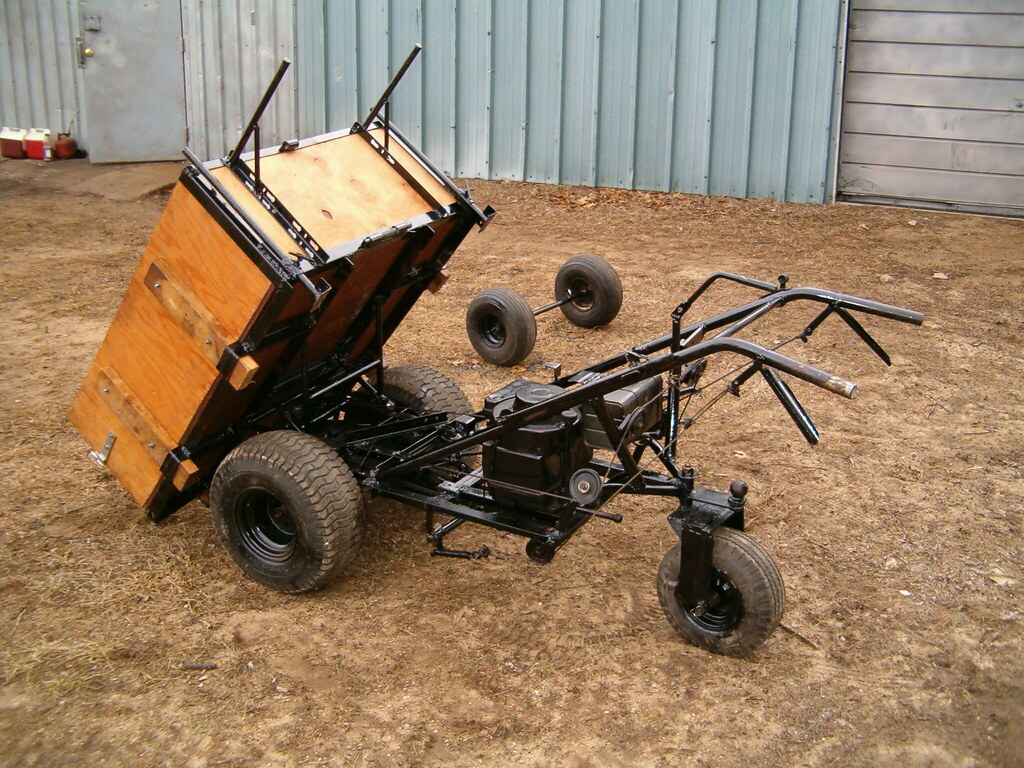 Homemade Power Wheelbarrow It Tilts To Dump The Wheels