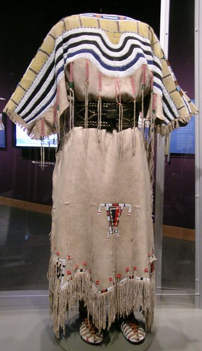 Blackfoot Two Hide Dress Circa 1860 Canada With Belt