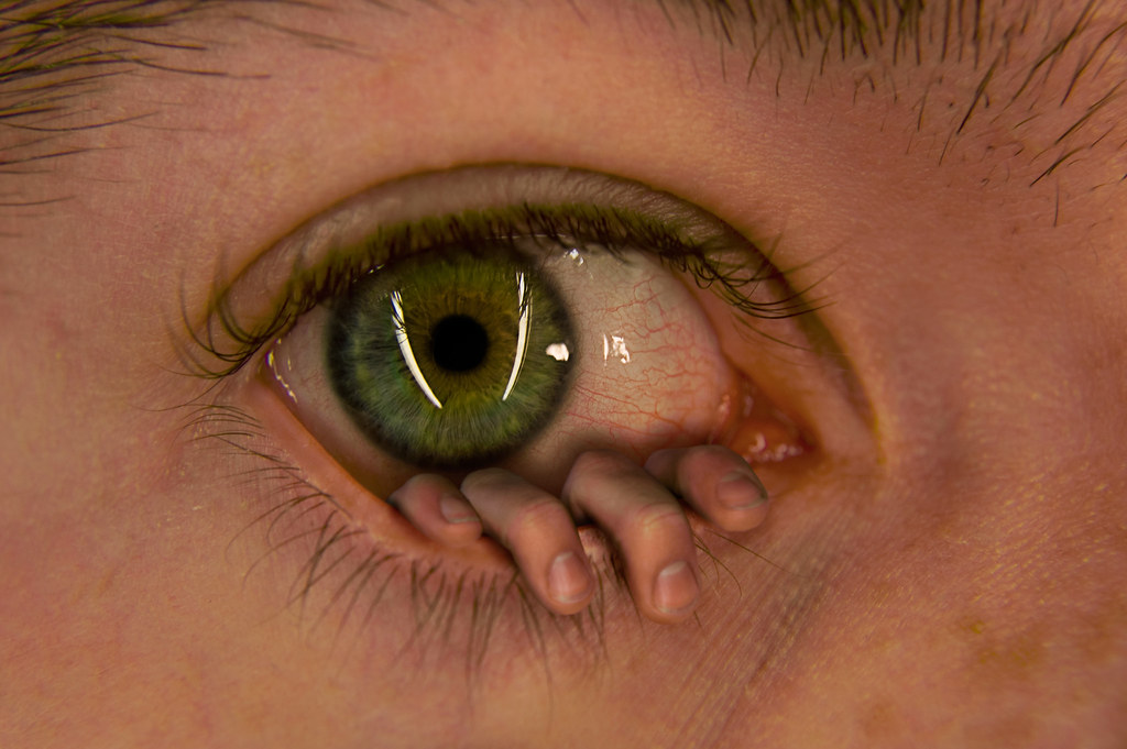 Image result for eye with fingers coming out