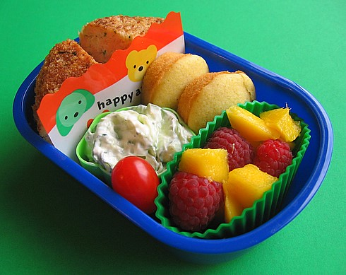 Salmon cake lunch for preschooler v1 | by Biggie*