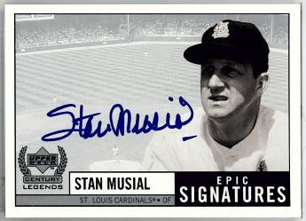 1999 Upper Deck Epic Signature Stan Musial | by Michael G. Baron