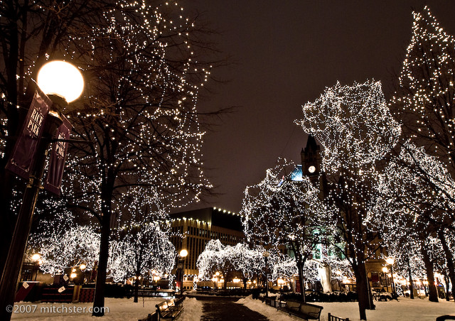 Christmas Lights | Christmas lights in Rice Park, St. Paul ...