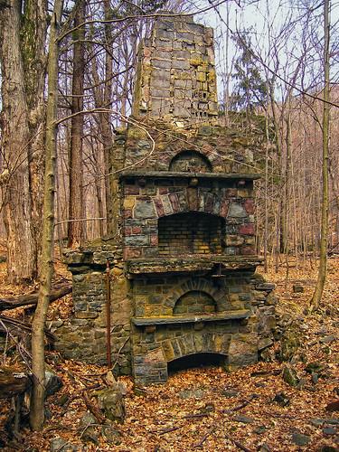 Pillar Ruins Along Devils Hole Creek Monroe County