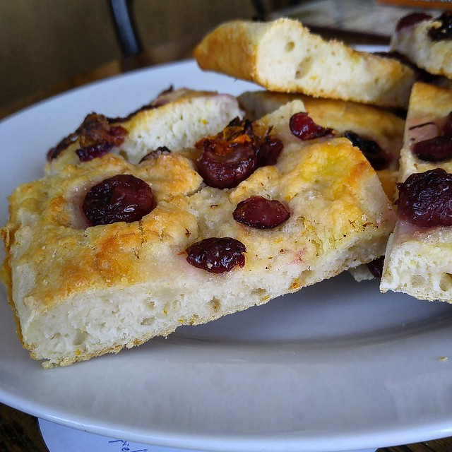 Floral Grape and Lemon Focaccia