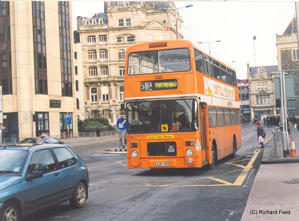 Cardiff Bus Volvo-Ailsa.   430 (A430 VNY) was one of thirty-…   Flickr