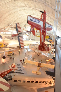 Steven F. Udvar-Hazy Center: South hangar panorama, including stunt planes hanging over the Concorde, among others | by Chris Devers
