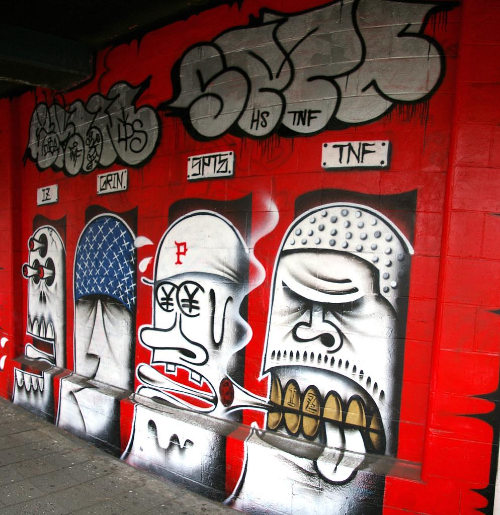 Yokohama graffiti wall -  Grin Spte By True 2 Death