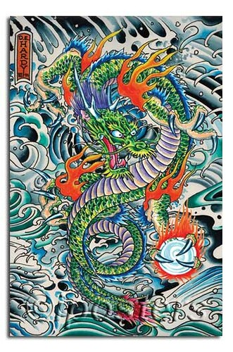 0092 don ed hardy dragon tatoo poster available from ipost flickr. Black Bedroom Furniture Sets. Home Design Ideas