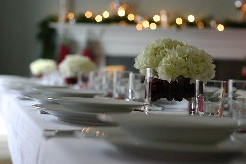 Seating for 20, three low centerpieces | by MelissaS