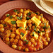 Chickpea Curry with Paneer