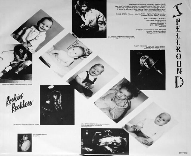 """Spellbound Rockin' Reckless NWOBHM 12"""" vinyl LP"""