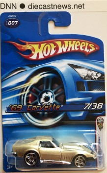 2006 First Editions Hot Wheels '69 Corvette