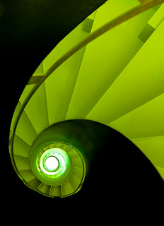 Spiral Staircase in Black and Green | by yushimoto_02 [christian]