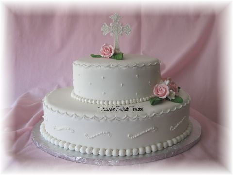 Communion Cake Oval Tiered This Tiered Cake Was For A