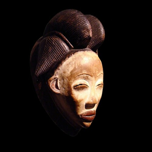 Masque pounou gabon mask punu art premier arts primitifs a for Art premier
