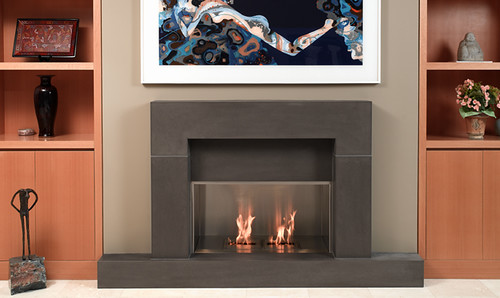 Block Shiitake Cast Concrete Fireplace Mantel | With a custo… | Flickr