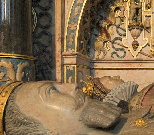 Tomb Effigies Of Robert Dudley, Earl Of Leicester, And Let