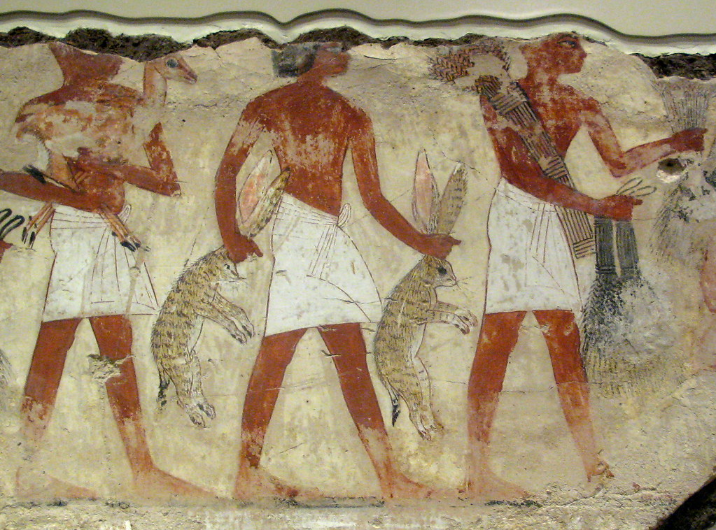 Bringing offerings nebamun 39 s tomb servants bring for Ancient egypt cuisine