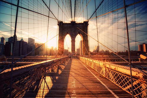 New York - Brooklyn Bridge Sunset | by Philipp Klinger Photography