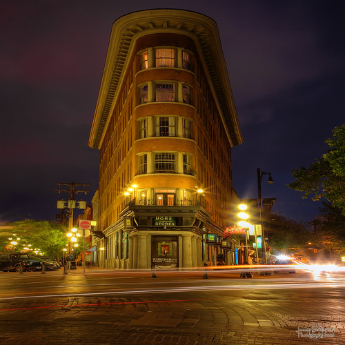 Time Square .. no , just our Flat Iron Building in Gastown | by janusz l