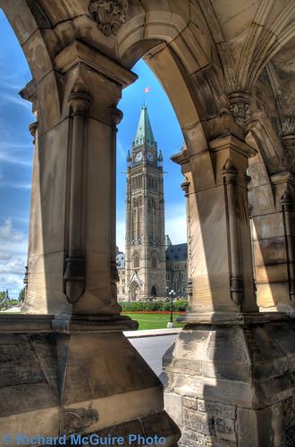 Ottawa Richard Mcguire Photo: Peace Tower Through The Arches At East Block, Parliament B