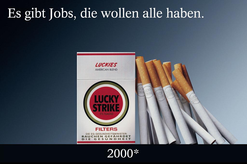 Es Gibt Jobs Die Wollen Alle Haben Lucky Strike Plakat W