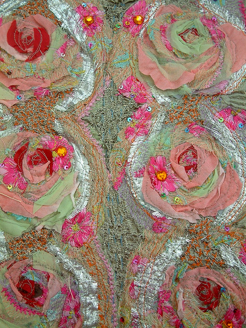 10 textile swatch created from vintage and recycled