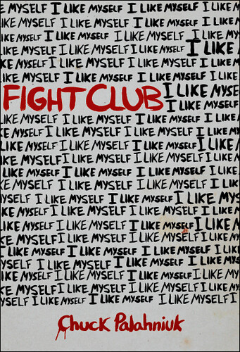 Cook Book Cover Quote : Fight club book cover the first in a series i m