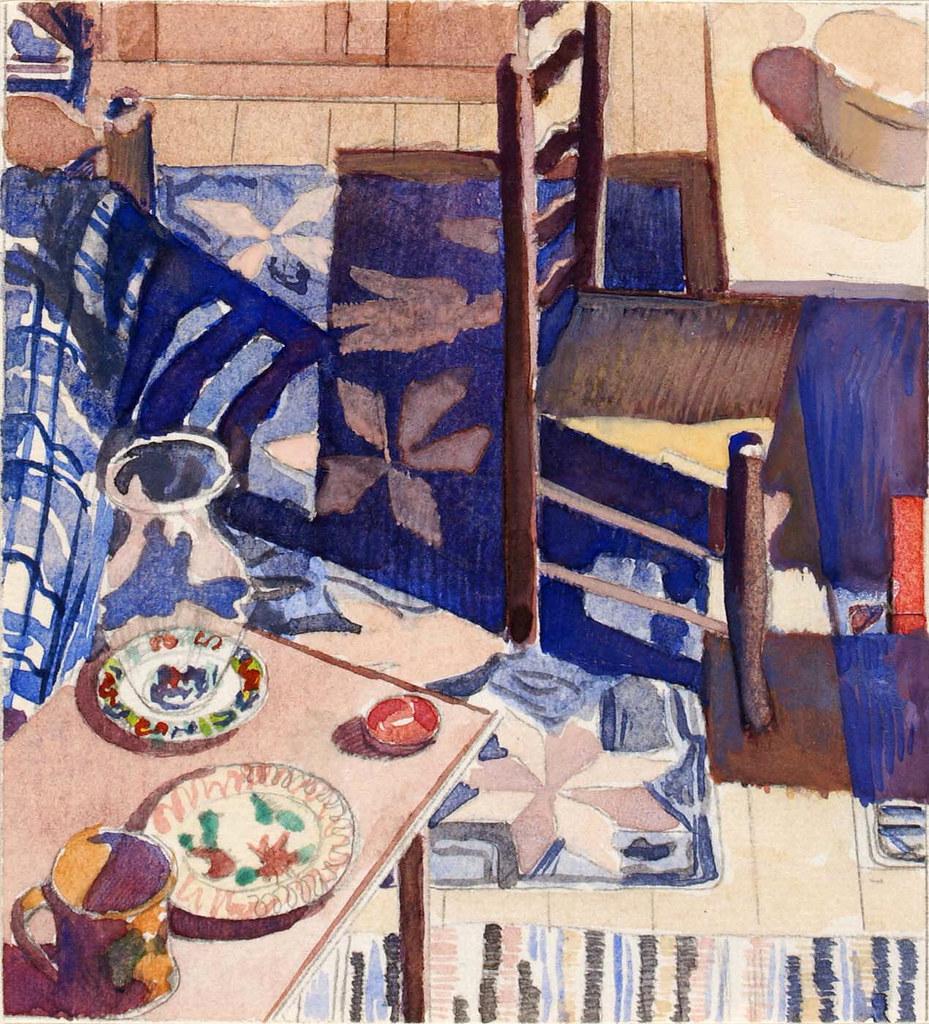 charles sheeler  study for american interior  1934  1934