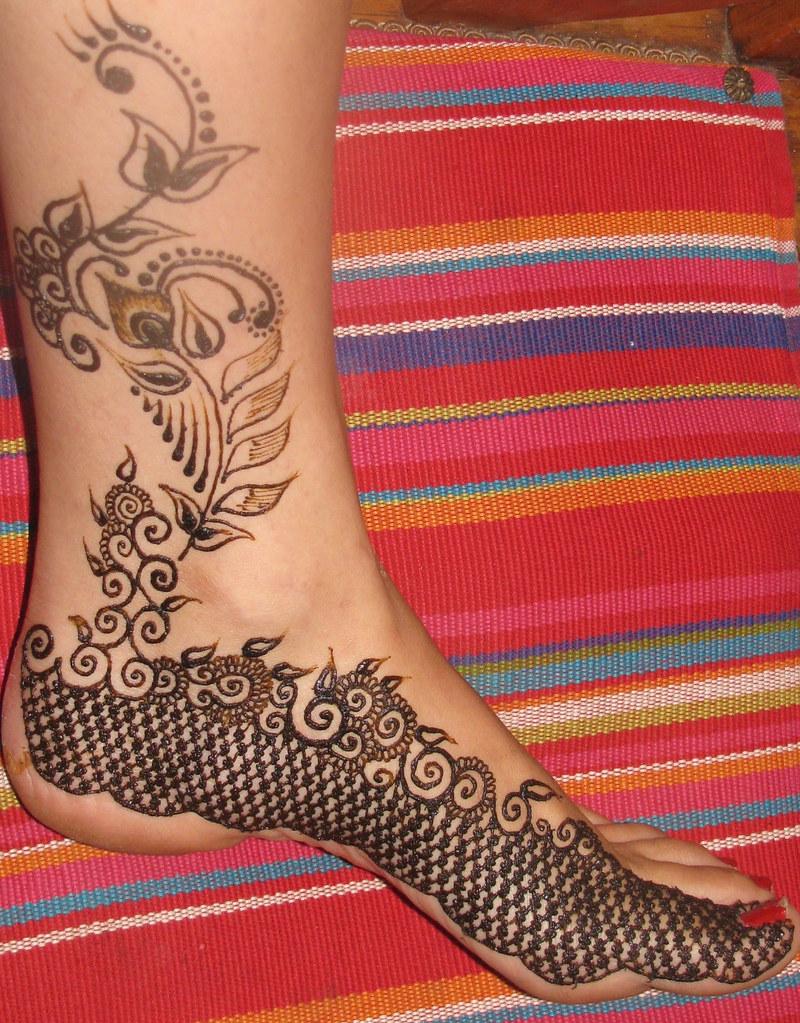Asha Savla Henna Design On Foot Leg Toes Volcano Henna Des Flickr