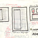 Sketches for wireframe templates