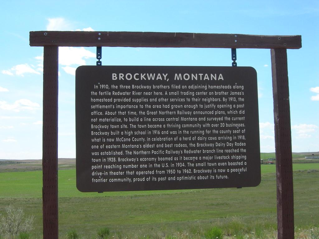 Montana mccone county brockway - Brockway Montana Historic Marker By Jimmywayne Brockway Montana Historic Marker By Jimmywayne