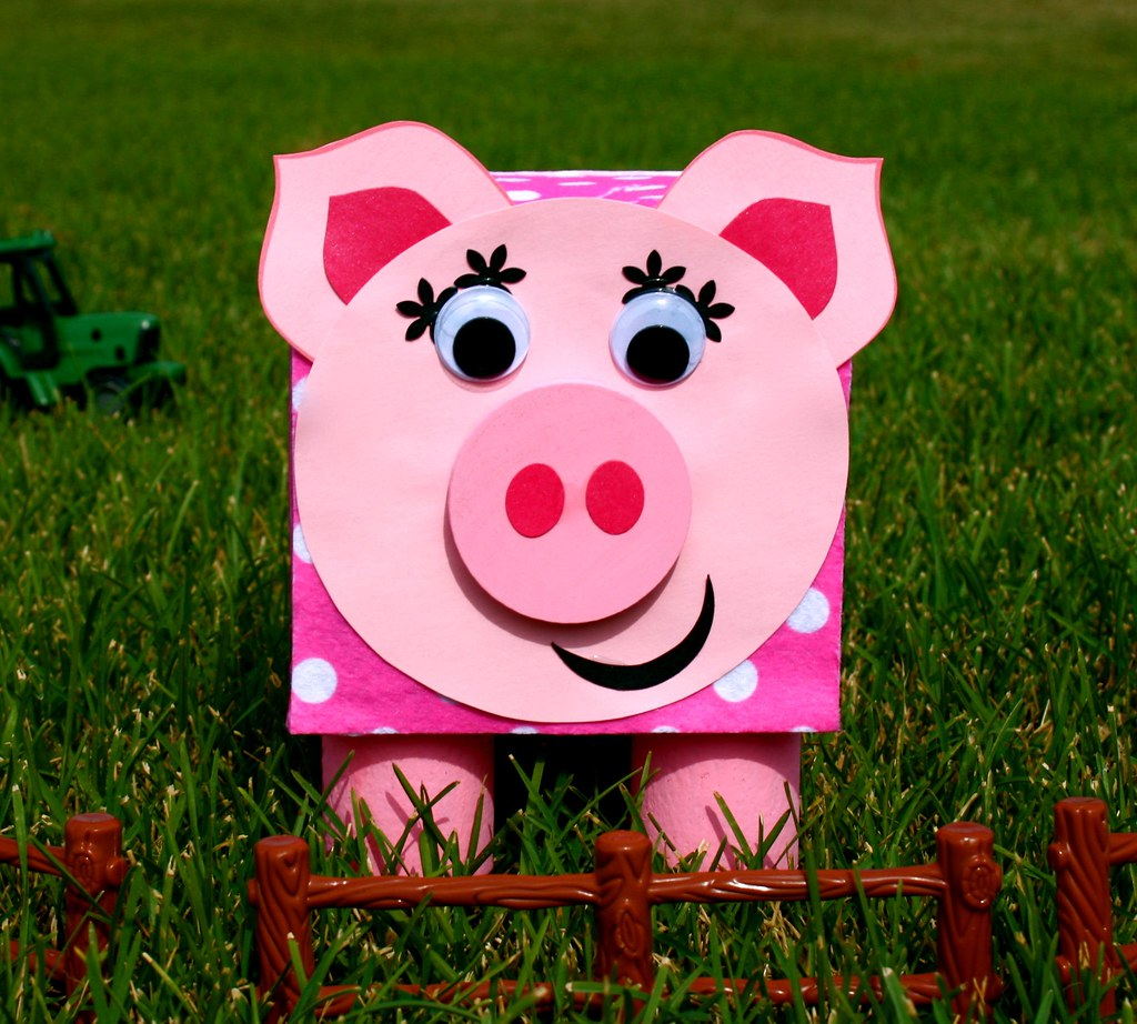 Piggy bank craft kit for kids this cute little piggy for Make a piggy bank craft