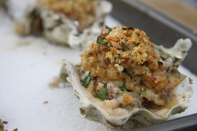 Baked Oysters Fresh Out of the Oven | These were delicious ...