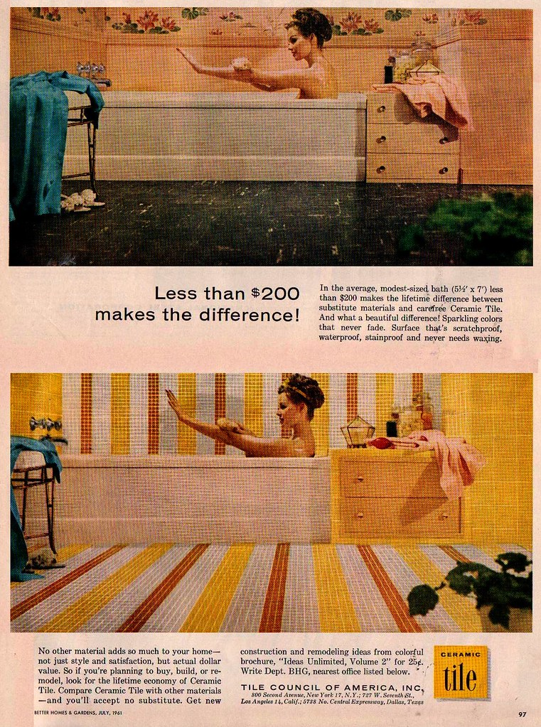 Ceramic Tile Ad Better Homes And Gardens July 1961