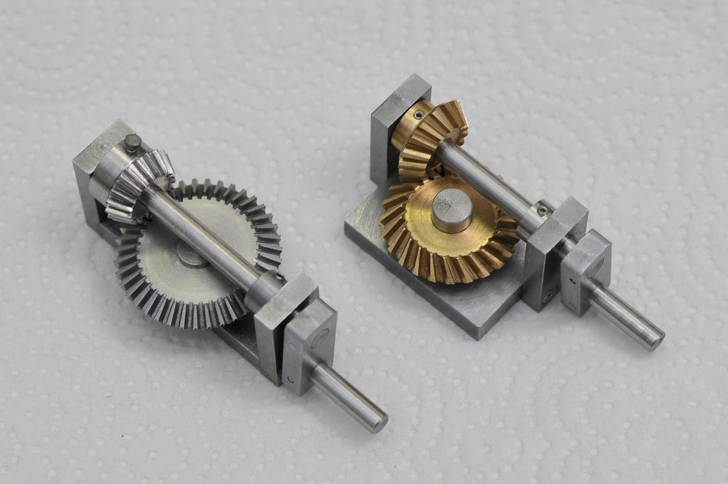 Bevel Gear Demonstrators I Made A Test Fixture For The