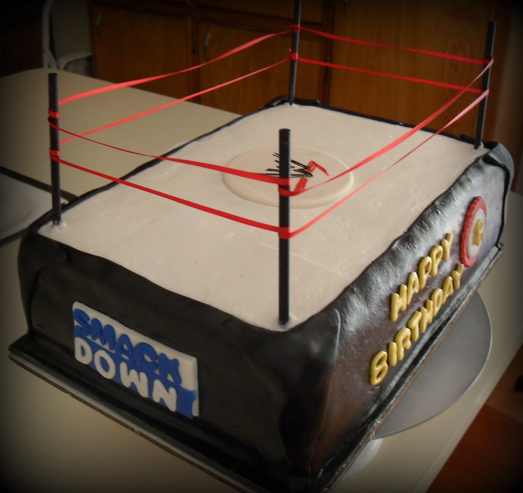 Wwe Wrestling Ring Cake This Cake Was Made For A Boy