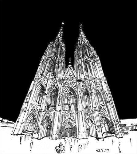 Cologne Cathedral Drawing Cologne Cathedral | by