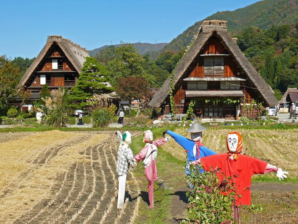 Shirakawa go japan gassho zukuri traditional houses une for Case tradizionali giapponesi