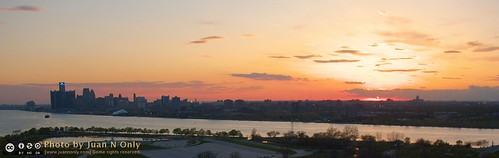 Sunset Over Detroit From Above Belle Isle [2770L-Crop] | by Juan N Only
