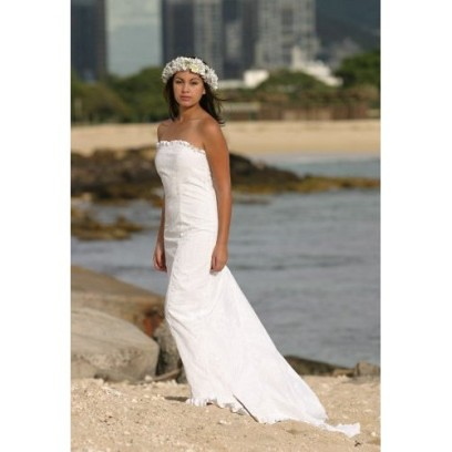 Nice Hawaiian Beach Wedding Dress
