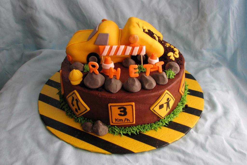 Construction Zone Birthday Cake