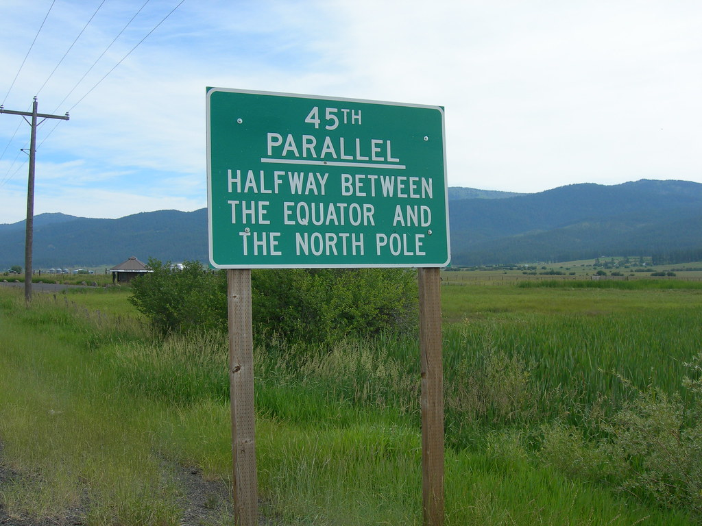 Th Parallel Sign On US Hwy North Of New Meadows Idaho Flickr - 45th parallel map us