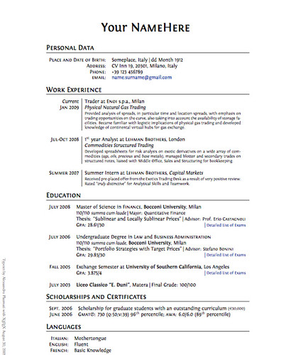 Clean Professional Latex Cv Template  Typeset Your Cv With   Flickr