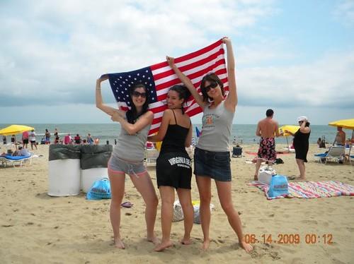 Au Pair USA Virginia Beach With The USA Flag Au Pairs Exp Flickr - Usa virginia