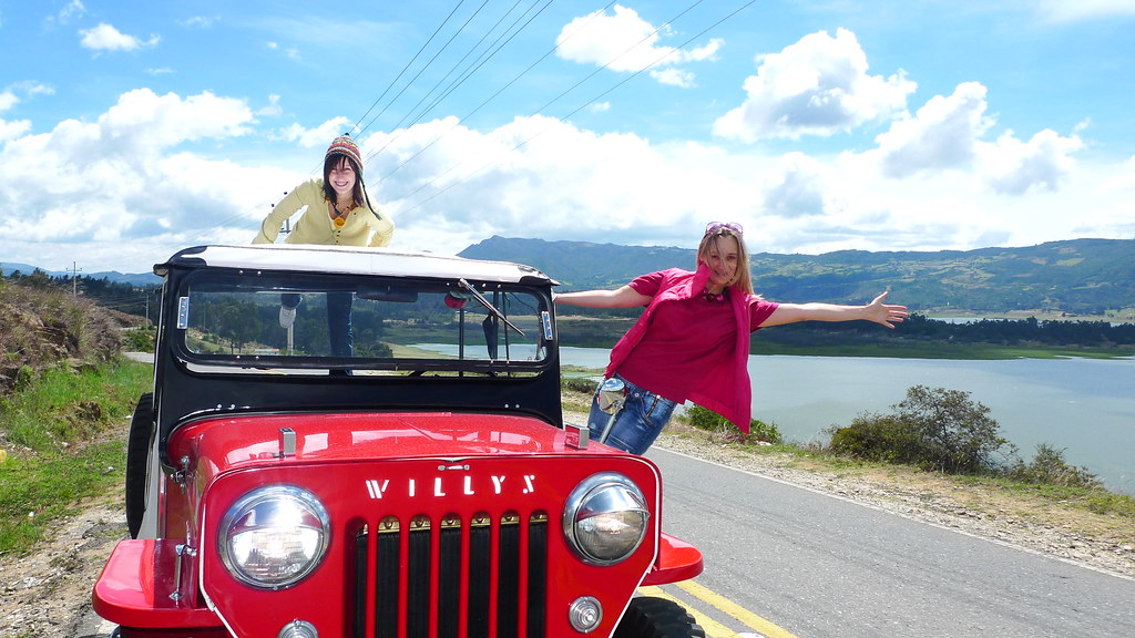 Las polacas felices en un Jeep Willys 54 | Flickr - Photo Sharing!