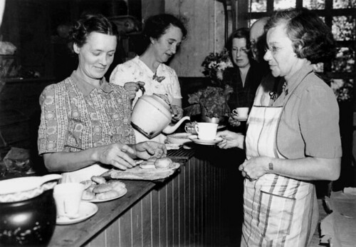 Serving tea at the community kitchen at Bardon, October 1942 | by State Library of Queensland, Australia