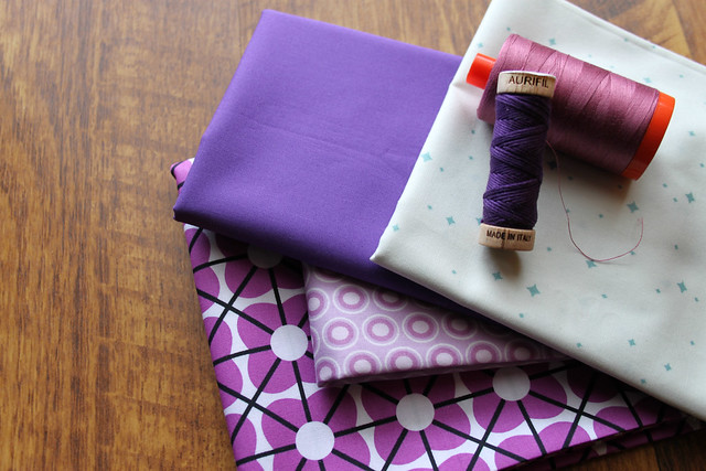 Blue-Purple Threads & Fabrics
